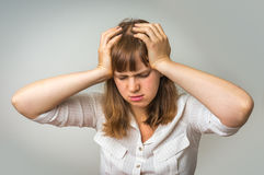 Young disappointed woman in depression Stock Image