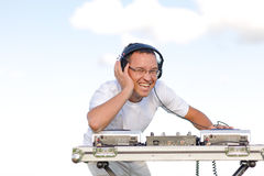 Young disc jockey Stock Images
