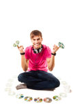 Young disk jockey Royalty Free Stock Image