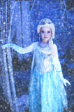 Young Disney Frozen Princess. Girl dressed up as Elsa from Frozen movie Stock Images