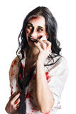 Zombie woman distressed Stock Photo