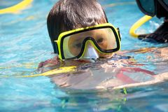 A young diver Stock Photos