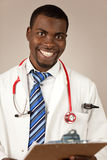 Young doctor. Happy young doctor or intern Stock Photos