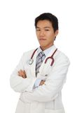 Young doctor. Young self-confident asia doctor Stock Images