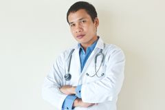 Young doctor. With smart posing Stock Images