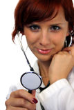 Young doctor. Beautiful young doctor with stethoscope Royalty Free Stock Photo