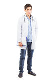 Young doctor arab is standing on the white background Royalty Free Stock Photos