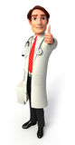 Young Doctor with best luck sign Royalty Free Stock Photos