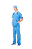 Young doctor in blue uniform Stock Photo
