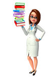 Young Doctor with books pile Stock Images