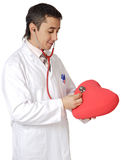 Young doctor cardiologist Royalty Free Stock Photos