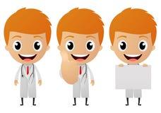 Young doctor cartoon Stock Photos