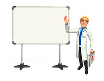 Young Doctor with display board Stock Photography