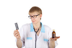 Young doctor doubt Royalty Free Stock Image