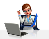 Young Doctor with file Royalty Free Stock Photos