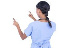 Young doctor gesturing with hands Stock Photos