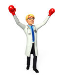 Young Doctor with gloves Stock Photography
