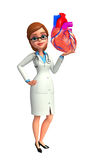 Young Doctor with heart anatomy Royalty Free Stock Image