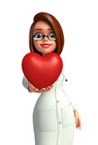 Young Doctor with heart Royalty Free Stock Image
