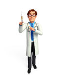 Young Doctor with injection Royalty Free Stock Images
