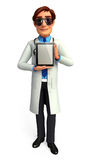 Young doctor with ipad Royalty Free Stock Photos