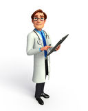 Young doctor with ipad Royalty Free Stock Photography