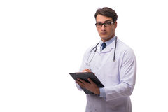 The young doctor isolated on white background Royalty Free Stock Image
