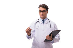 The young doctor isolated on white background Stock Image