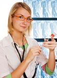 Young doctor in the laboratory Stock Photo