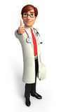Young doctor man with best sign Stock Photography
