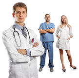 Young doctor man with stethoscope Royalty Free Stock Photography