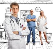 Young doctor man with stethoscope Stock Photo
