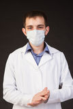 The young doctor in a mask Stock Photos