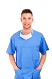Young doctor with mask Royalty Free Stock Photography