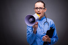 The young doctor in medical concept Stock Photos