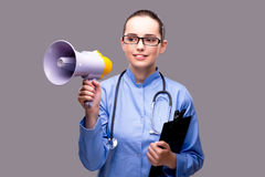 The young doctor in medical concept Stock Photography