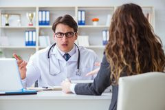 The young doctor in medical insurance fraud concept. Young doctor in medical insurance fraud concept Stock Photography