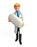 Young Doctor with  medicine Royalty Free Stock Image