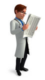 Young Doctor with news paper Royalty Free Stock Photo