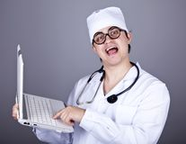 Young doctor with notebook Stock Images