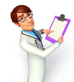 Young Doctor with notepad Royalty Free Stock Image