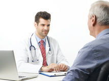 Young doctor with patient Stock Image
