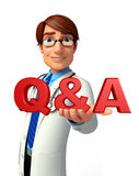 Young Doctor with Q & A Stock Photography