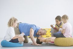 First aid lesson royalty free stock photo