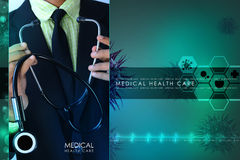 Young doctor showing stethoscope Stock Photography