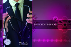 Young doctor showing stethoscope Stock Images
