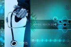 Young doctor showing stethoscope Royalty Free Stock Image