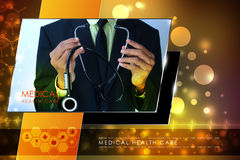 Young doctor showing stethoscope Stock Photo