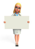 Young Doctor with sign Royalty Free Stock Images