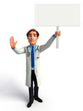 Young Doctor with sign Stock Photos
